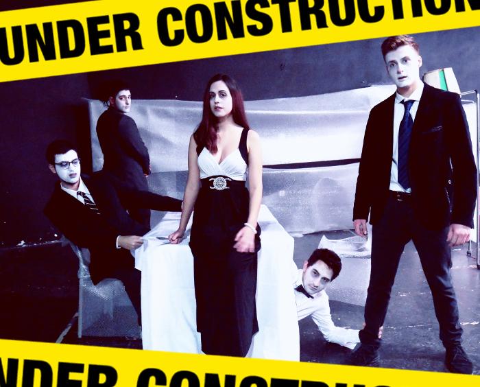 Η αφίσα της παράστασης 'Κόντρα στον Έρωτα – Κόντρα στην Πρόοδο'